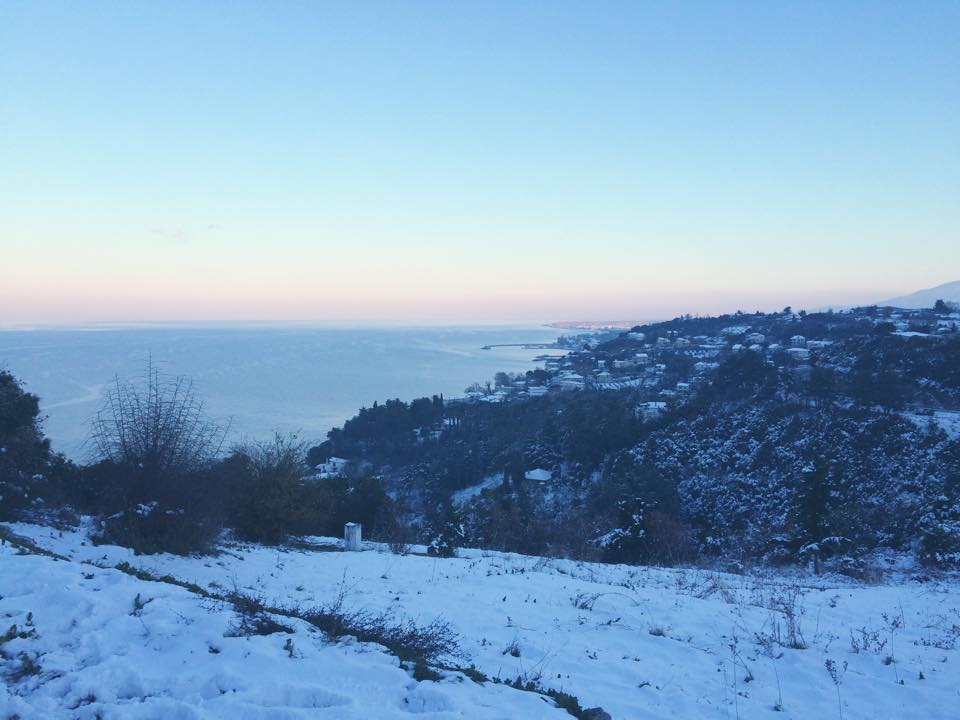 View of the Aegean Sea from Mount Olympus