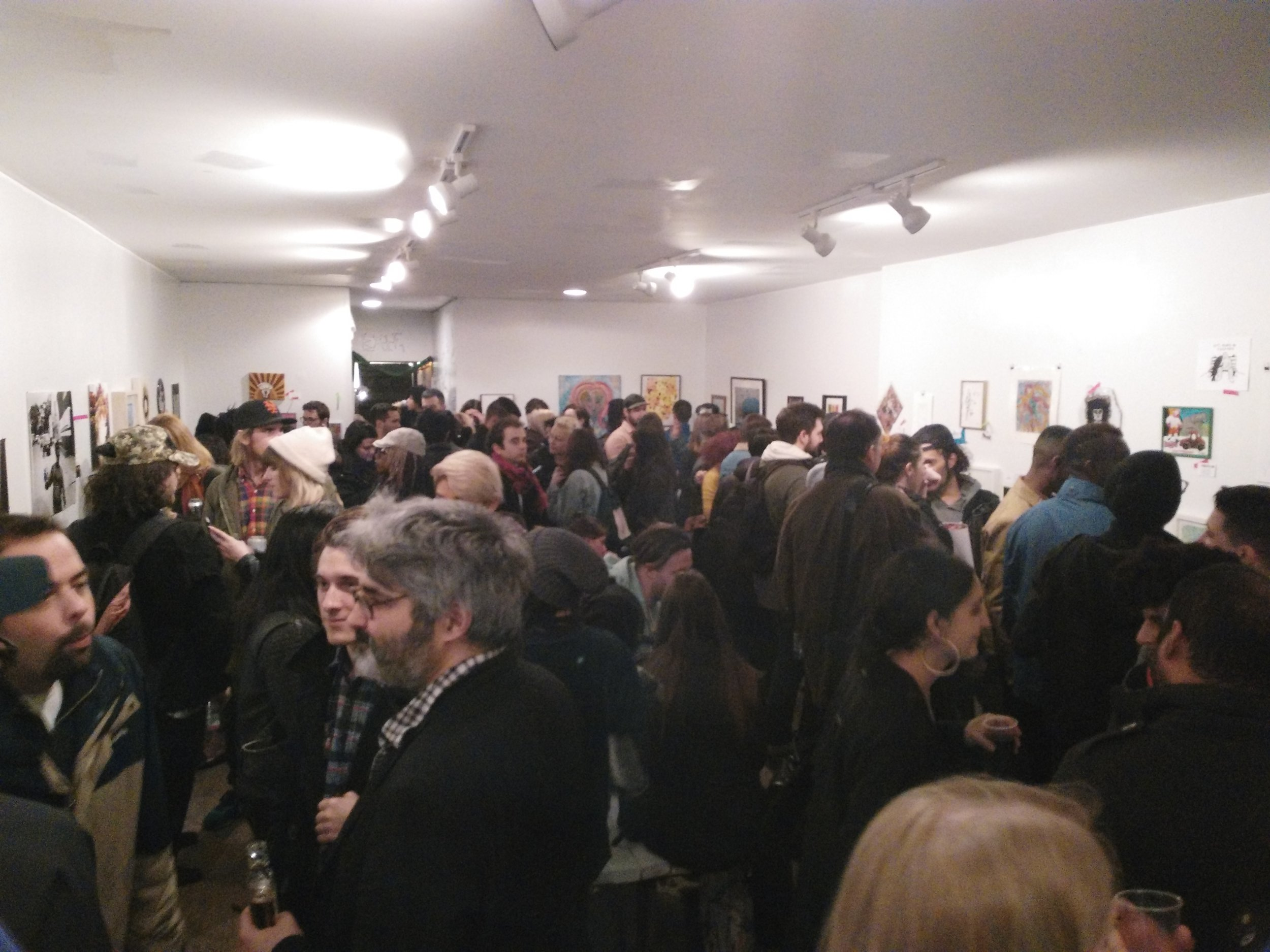 "The Living Gallery was packed during its ""Free the Art"" exhibition. All photos by Davis Campbell."