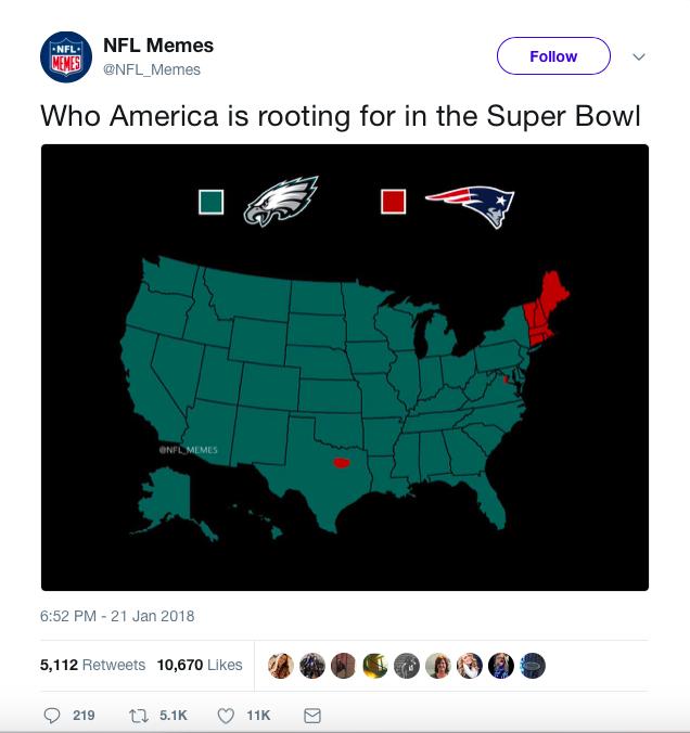 Tweet from NFL Memes