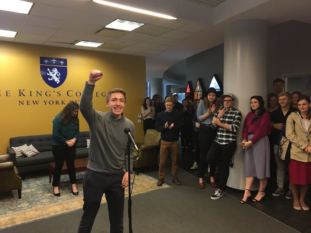 Michael Martinez after being named Student Body President in Spring 2017
