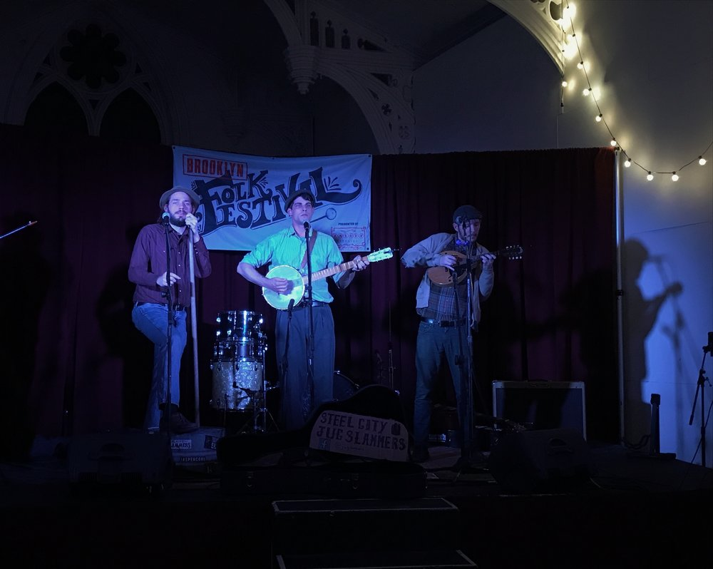 """The Steel City Jug Slammers"" performing at The Brooklyn Folk Festival April 6th, 2018"