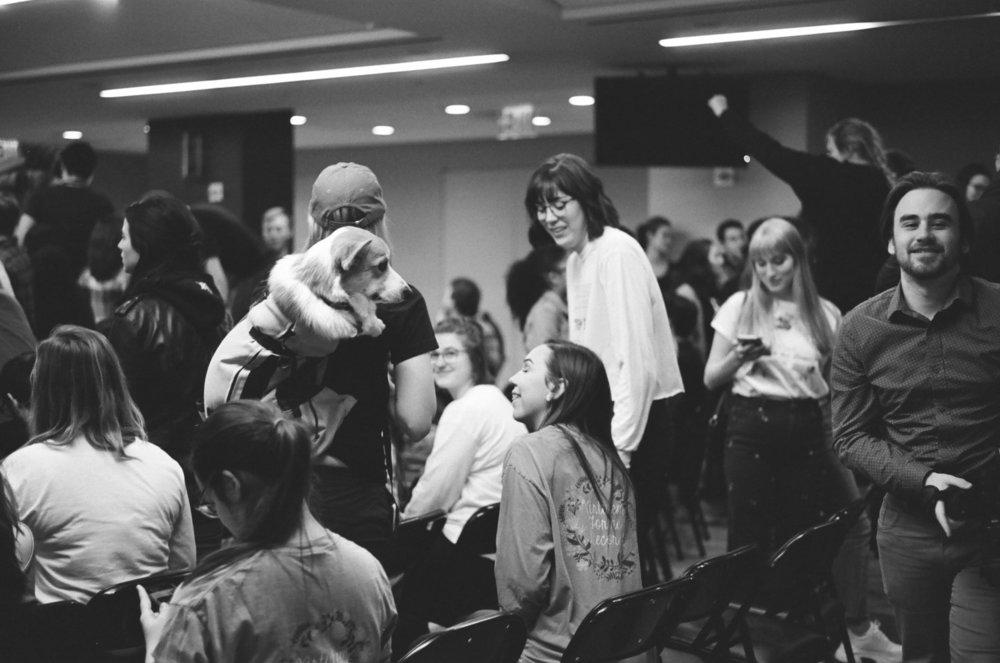 Students participate in Interregnum XIV, where the theme was compassion. || Photo Credit: Sungjun Kim