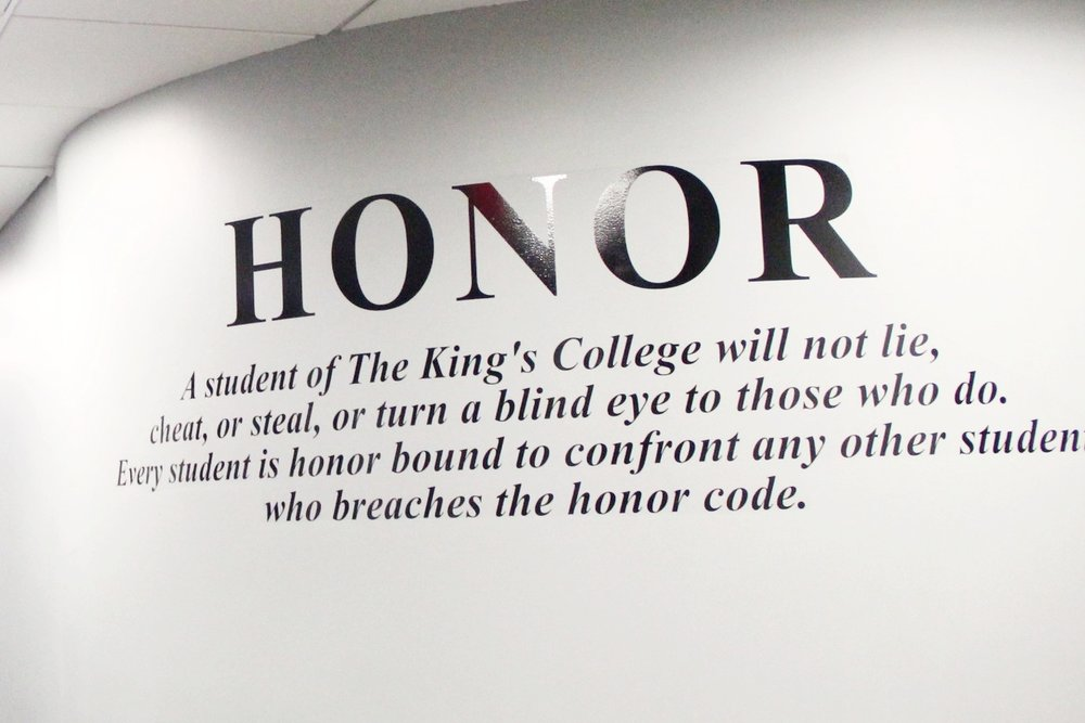 The Honor Code is shown around campus. II Photo Credit: Bernadette Berdychowski