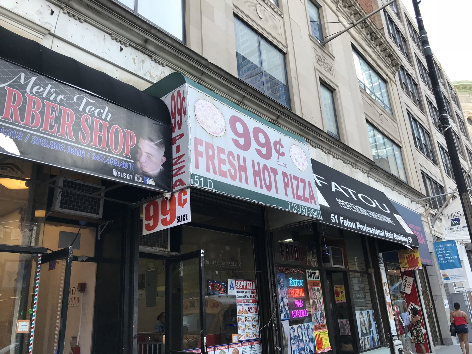 Pizza Rests In The Heart Of New York City And Is Virtually A Cultural Artifact Downtown Brooklyn Theres 99 Cent Fresh Hot