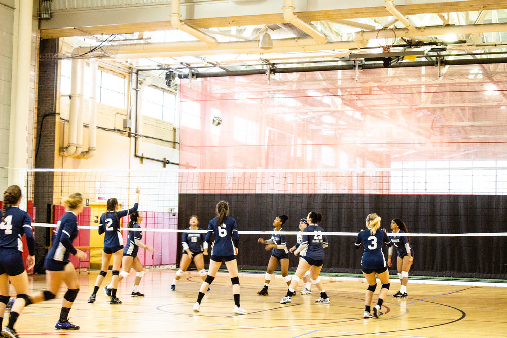 The King's College volleyball team plays against Penn State Hazleton. || Photo Credit: Nathan Foster