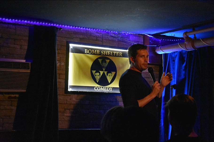 Bomb Shelter Comedy Club, Erik Bransteen || Photo Credit: Morgan Chittum