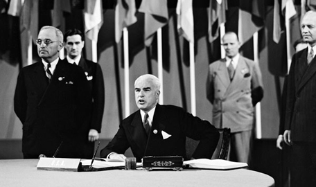 On June 26, 1945, the UN charter was signed and adopted. || Photo credit to the UN Audiovisual Library of International Law.
