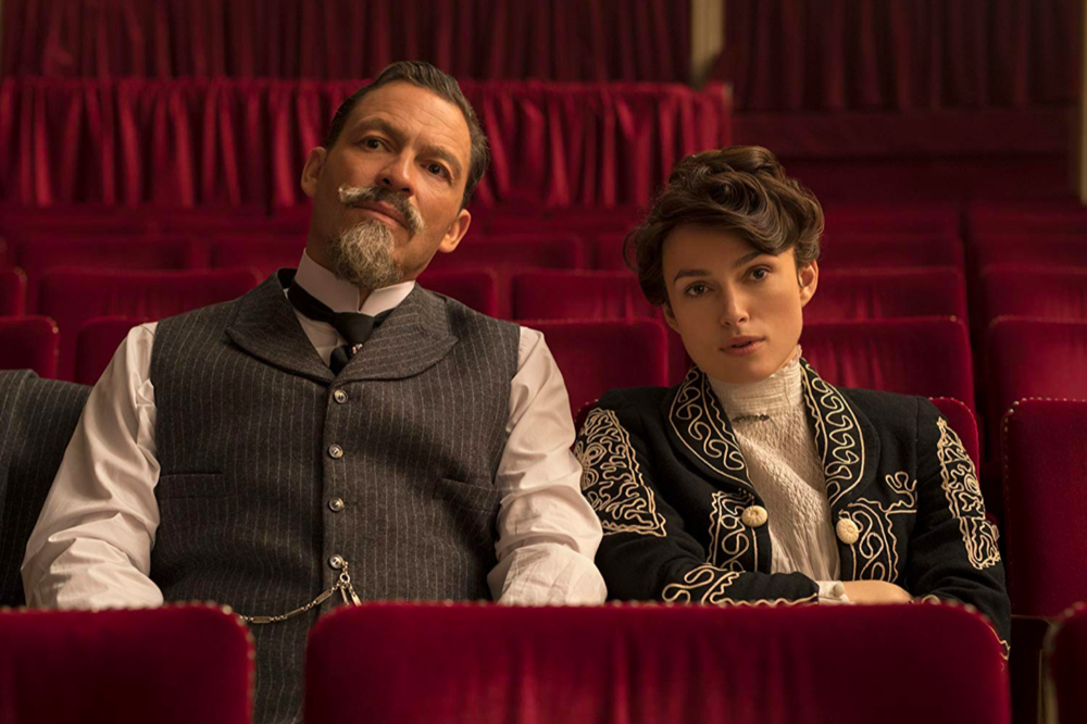 "Dominic West (Left) with Kiera Knightley (Right) in ""Colette"" // Roger Viglasky, Bleeker Street (2018)"