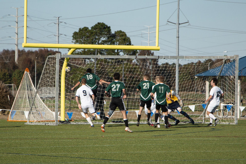 SUNY ESF The Mighty Oaks score against The King's College Lions. || Photo credit to Bernadette Berdychowski.