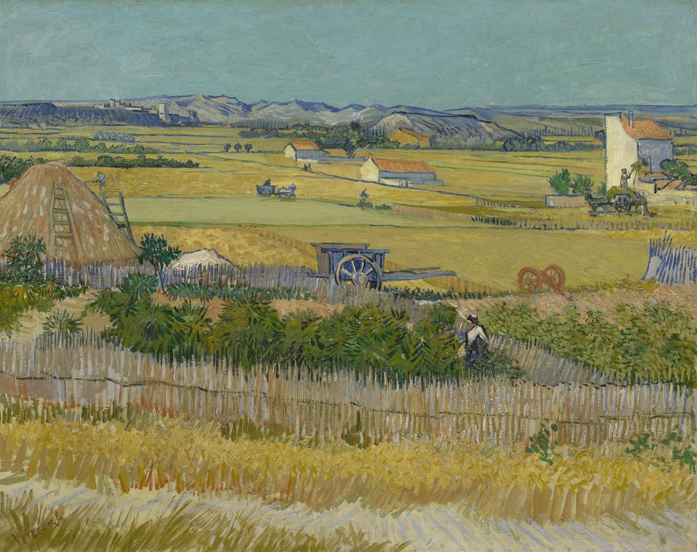 The Harvest, 1888. Credit to the Van Gogh Museum.