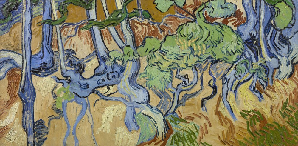 Tree Roots, 1890. Credit to the Van Gogh Museum.