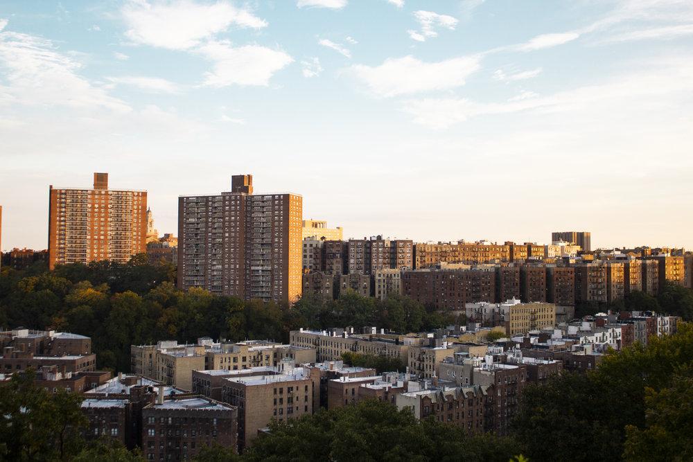Upper Manhattan from Fort Tyron Park. || Photo credit to Bernadette Berdychowski.