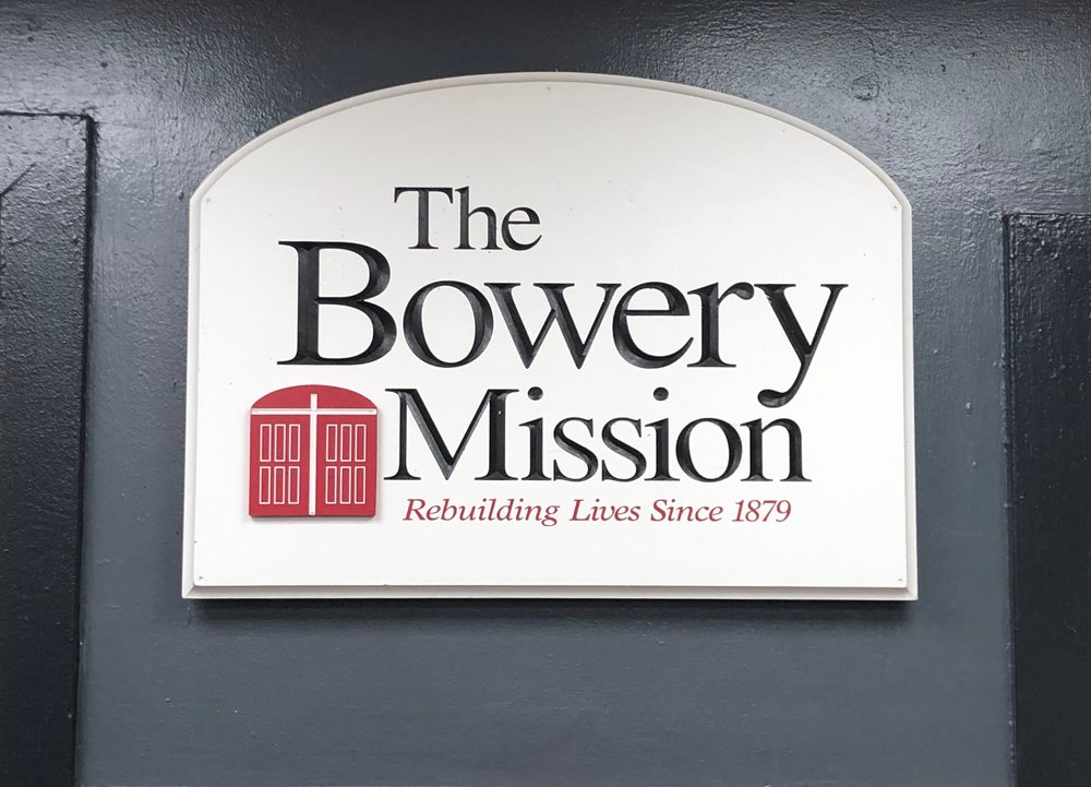 The Bowery Mission sign displayed on Saturday Jan. 26. || Photo credit to Serena Tuomi.