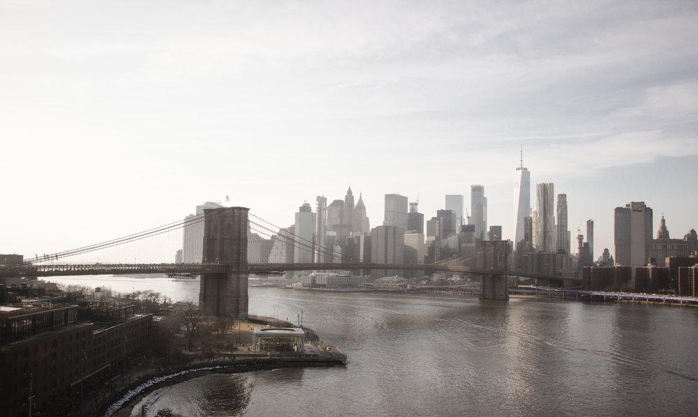 New York City from the Manhattan Bridge. || Photo credit to Bernadette Berdychowski.
