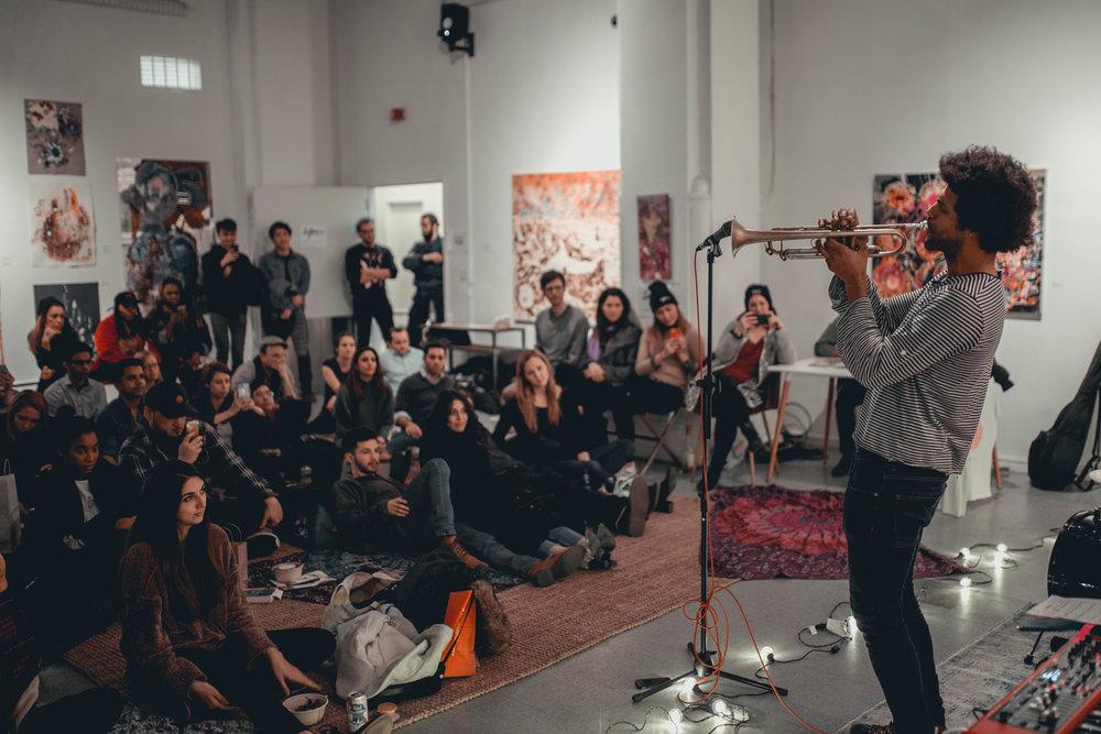 Wayne Tucker performing at one of the SoFar Sounds live performances || Photo credit to Marina Barham