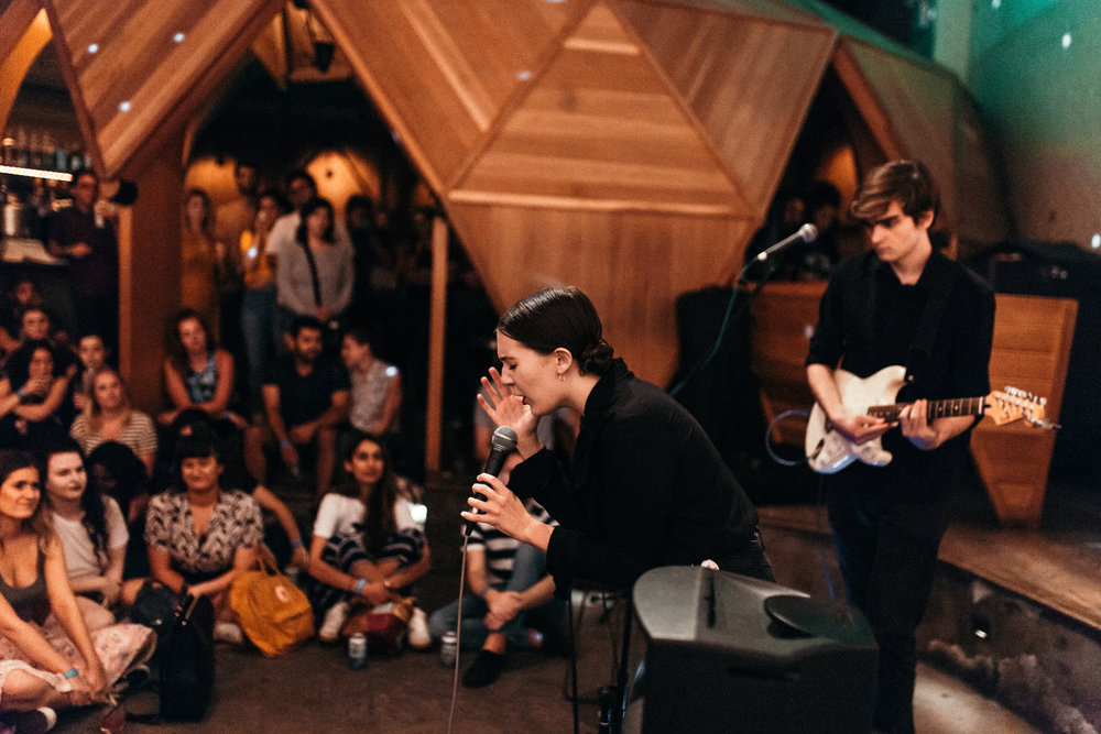 Misty Mountain performing for an audience || Photo credit to Marina Barham