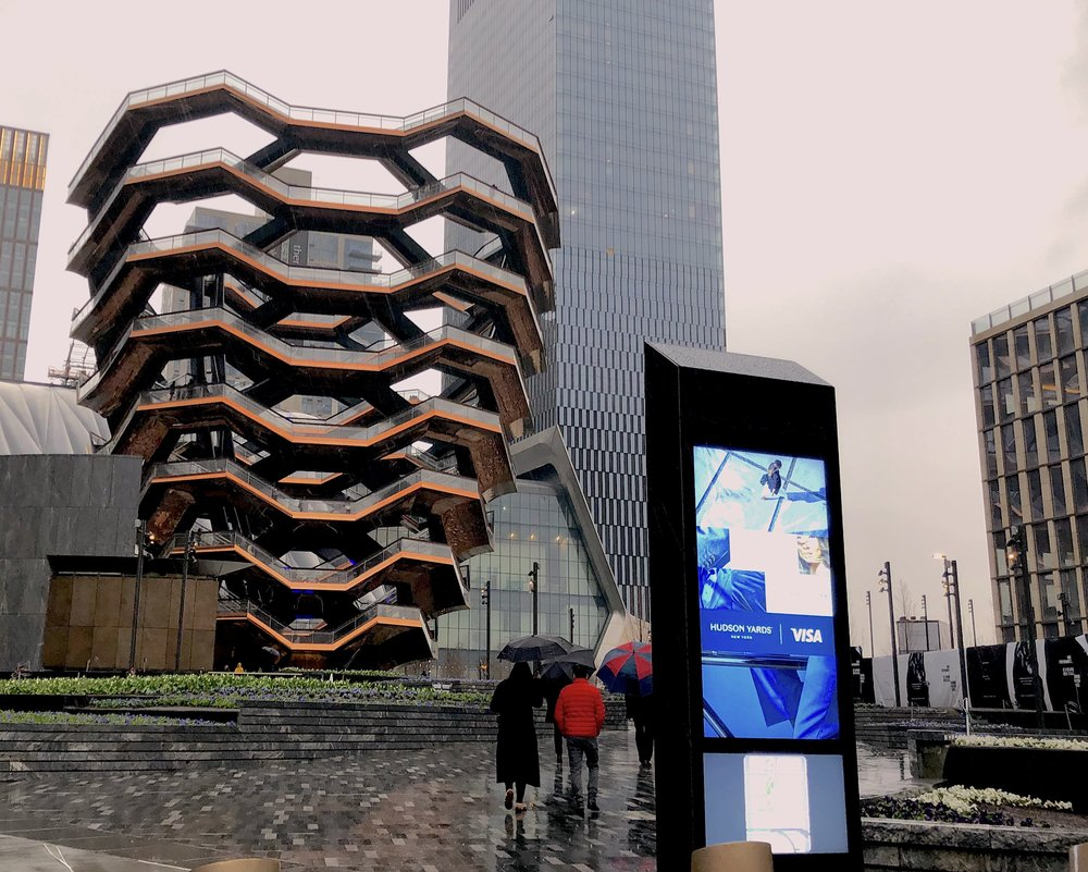 The Vessel, located at the Hudson Yards, has become the unique spot for pictures and hanging out.    Photo credit to Lauren Bannister