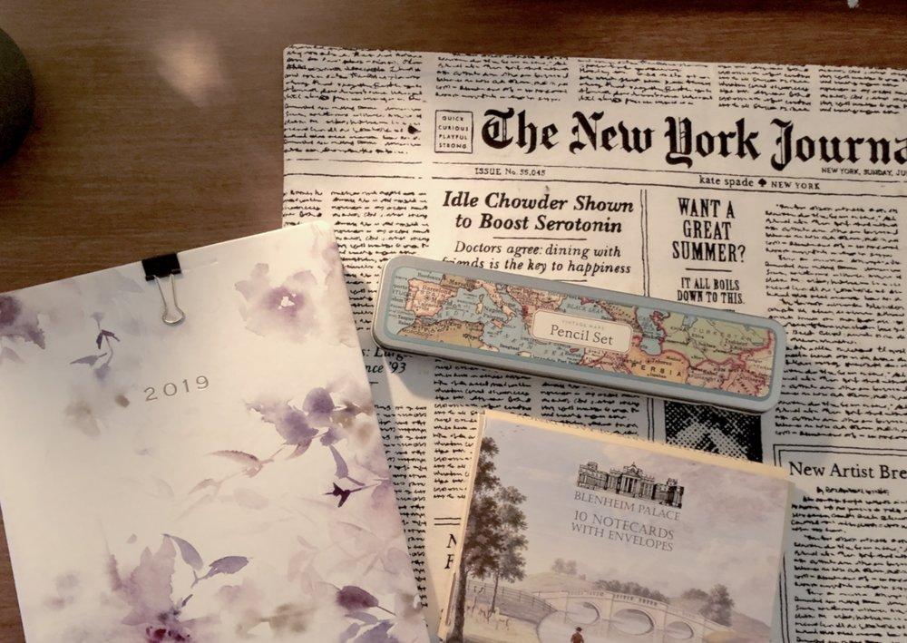 Ellen Coy's stationary sits on her desk. || Photo credit to Lauren Bannister.