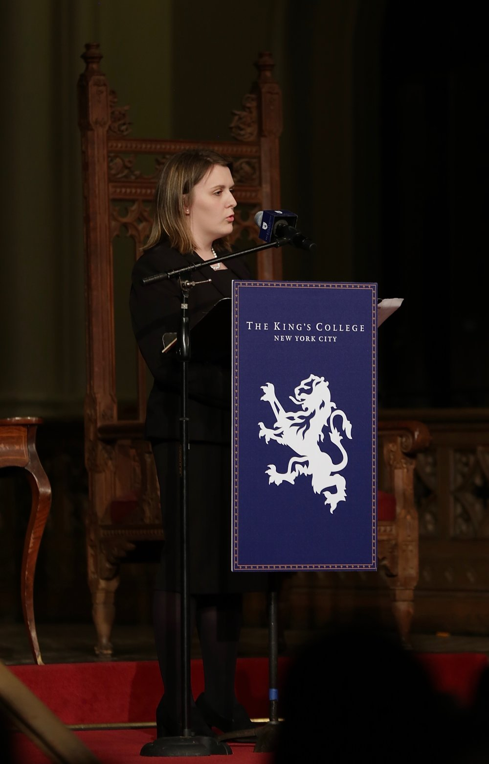 Jillian Cheney representing the House of Susan B. Anthony.    Photo Credit to Gabriela Kressley
