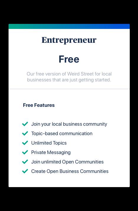 Free Plan for Entrepreneurs