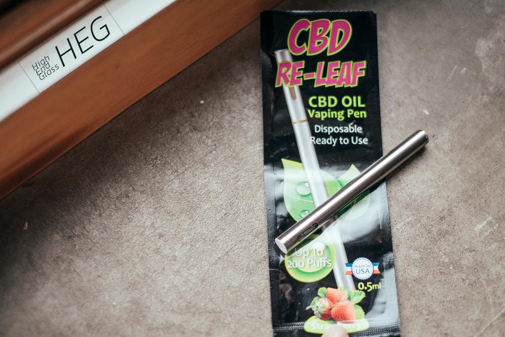 CBD RE-LEAF pre-filled vape pen