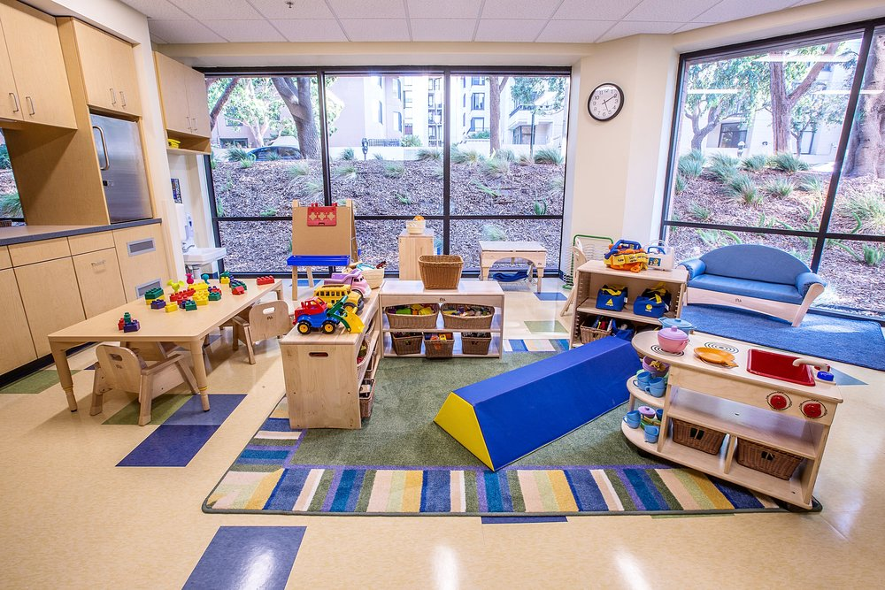 Bright Horizons education and preschool center play area located inside Waterfront Plaza