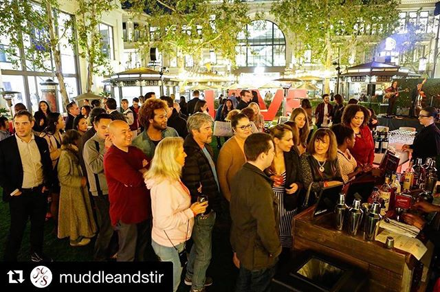 #Repost @muddleandstir . Creator of #TheArtofFindingLove drink 🙏 ・・・ When the bar is rocking don't come a knocking! 👊 Muddle & Stir featured cocktails at #theartoffindinglove event at @thegrovela ❤
