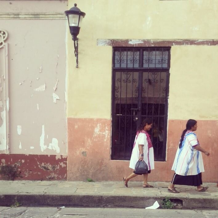 Women wearing regional clothes. Chiapas, Mexico. Photo by Alyce Ornella