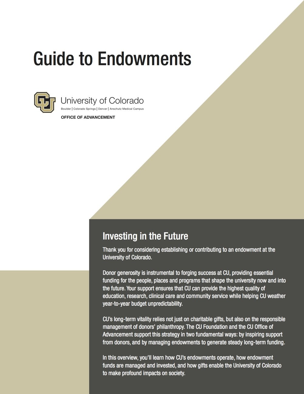 Guide to Endowments