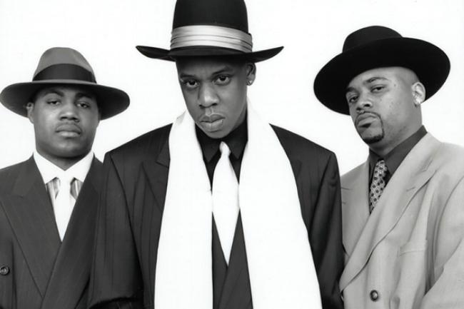 1996 Reasonable Doubt Album shoot:Jay, Dame and Biggs