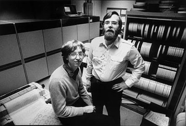 Bill Gates and his co-founder Paul Allen when Microsoft was a Startup in the '70s.