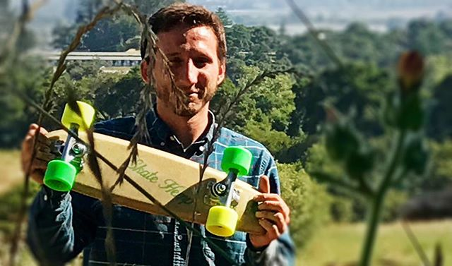 Another person stoked on Granny Smith in Santa Cruz!  #sustainable #hemp #skate #california