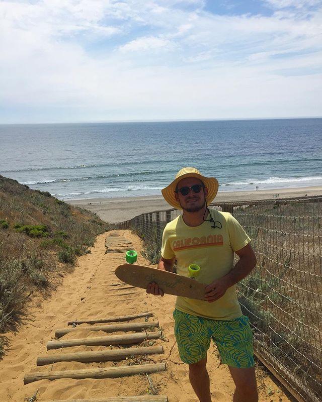 GrannySmithSports checking out Sunset Beach, CA  #sustainable #hemp #skate #california