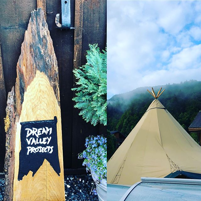 """Time in the Teepee using """"open spaces"""" to plan the first part of our day; lunch in the bed of a stunning horseshoe of waterfalls; and then whitewater rafting. Tomorrow we hike to a mountain refuge. #alptitude2018 #leadersgofirst #taketimetothink #dothework #growonpurpose #entrepreneurship #womenleaders #newfriends #lifelongleadership #bebrave #womenwhoshred"""