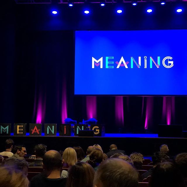 "Meaning Conference in Brighton, U.K. Best quote so far this morning... ""To be truly radical is to make hope possible versus despair convincing."" #meaningconference2018 #meaningconference"