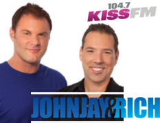 John Jay and Rich 104.7 KISS FM