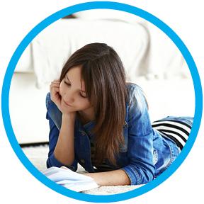 School Student doing homework