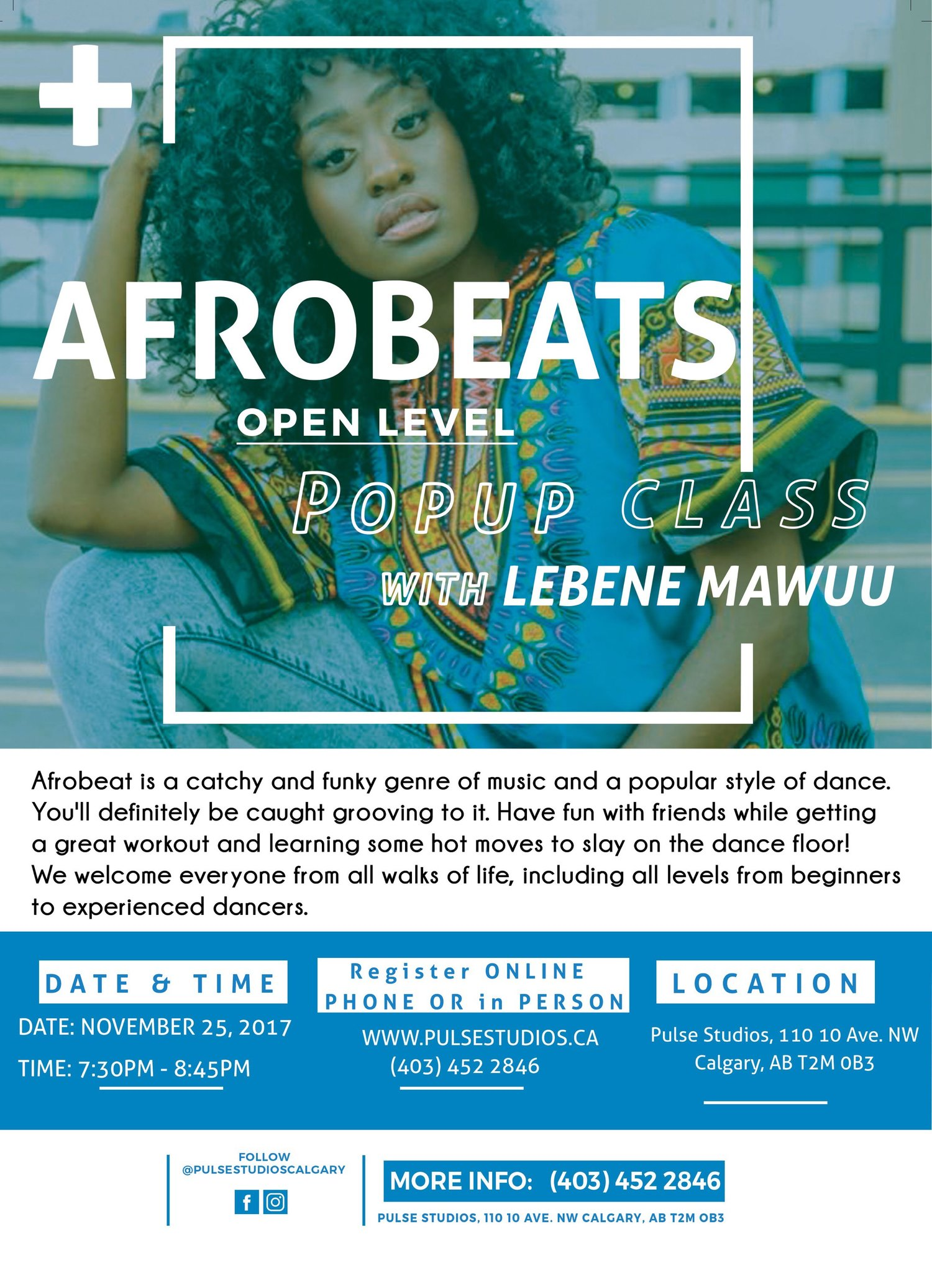 Afrobeats POP up class — Pulse Studios