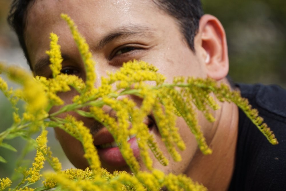 Josh modeling ft. sweaty forehead on a 90 degree day!