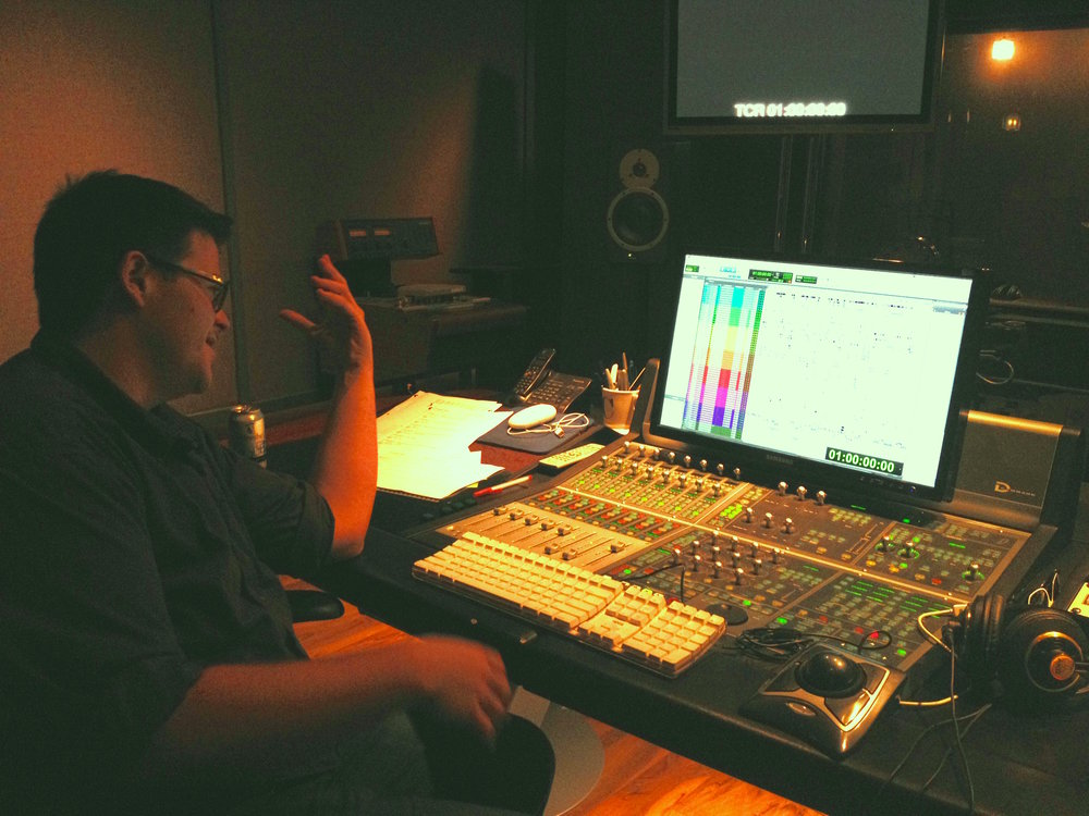 Alec Moore at work in Studio C.