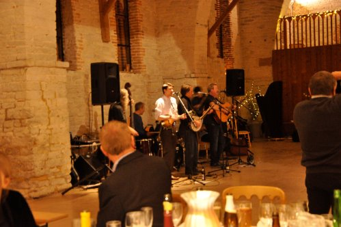 Kick Up the Dust playing at Mark and Diane's wedding
