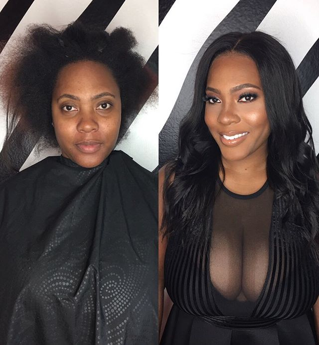 #Dtglam @dtglam bringing you a little dose of before and after ✨. #hair : @tigerbahmb #makeup : @drodbeauty