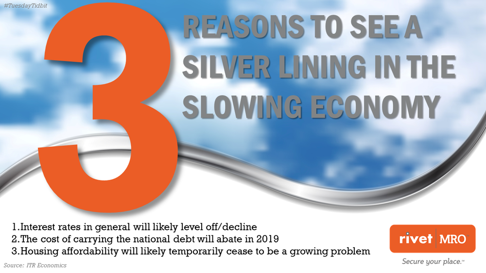 3 Silver Lining Reasons for Slowing Economy by Rivet MRO Industrial Marketing Agency and Distributor Co-op Marketing Consultant.png