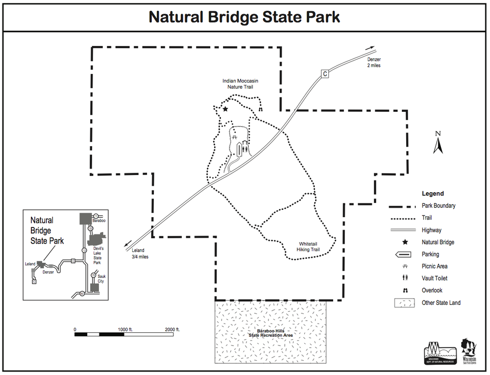 Natural Bridge State Park trail map