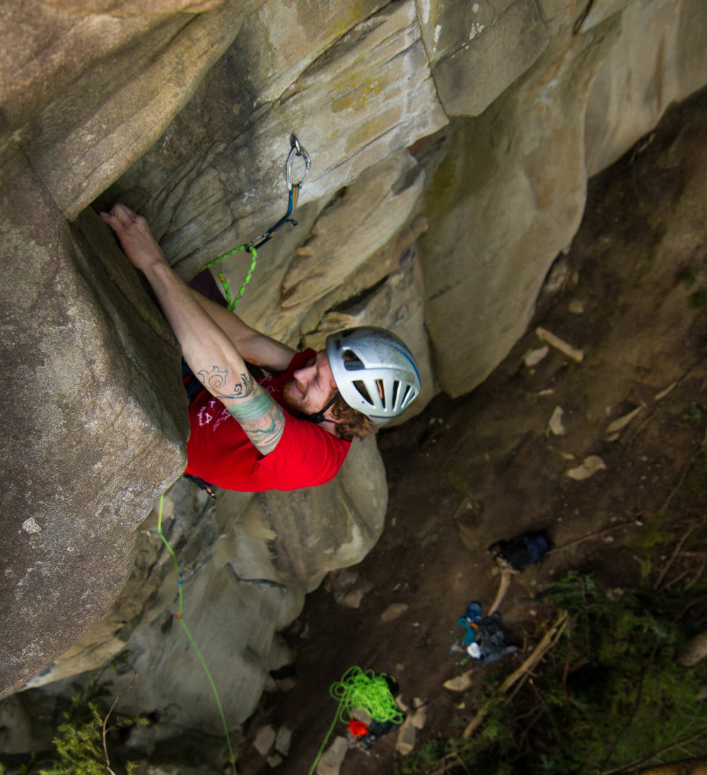 A first ascent in Bellingham, WA photo: Andy Walbon