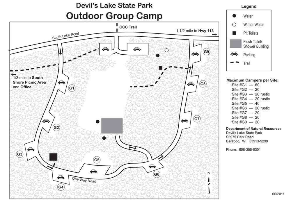 South Shore Group Campground Map