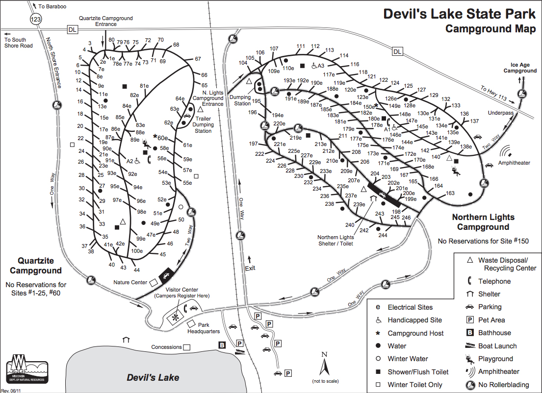 Devils Lake Camping Info Campground Descriptions And Maps - Map of northern wisconsin lakes