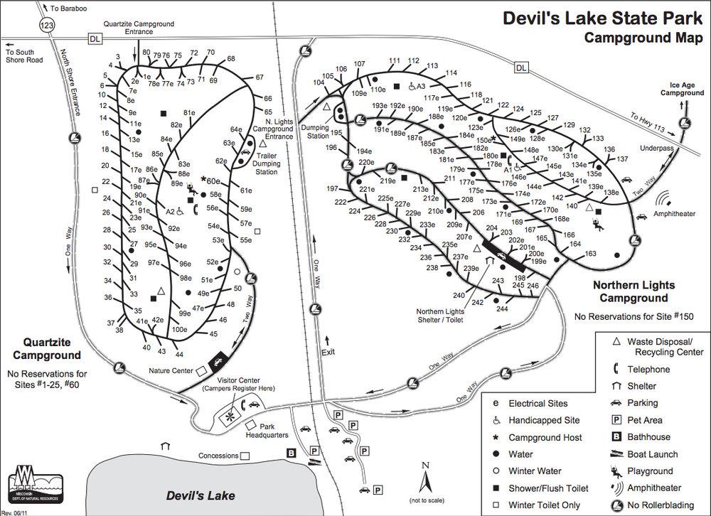 Devils Lake Camping Info