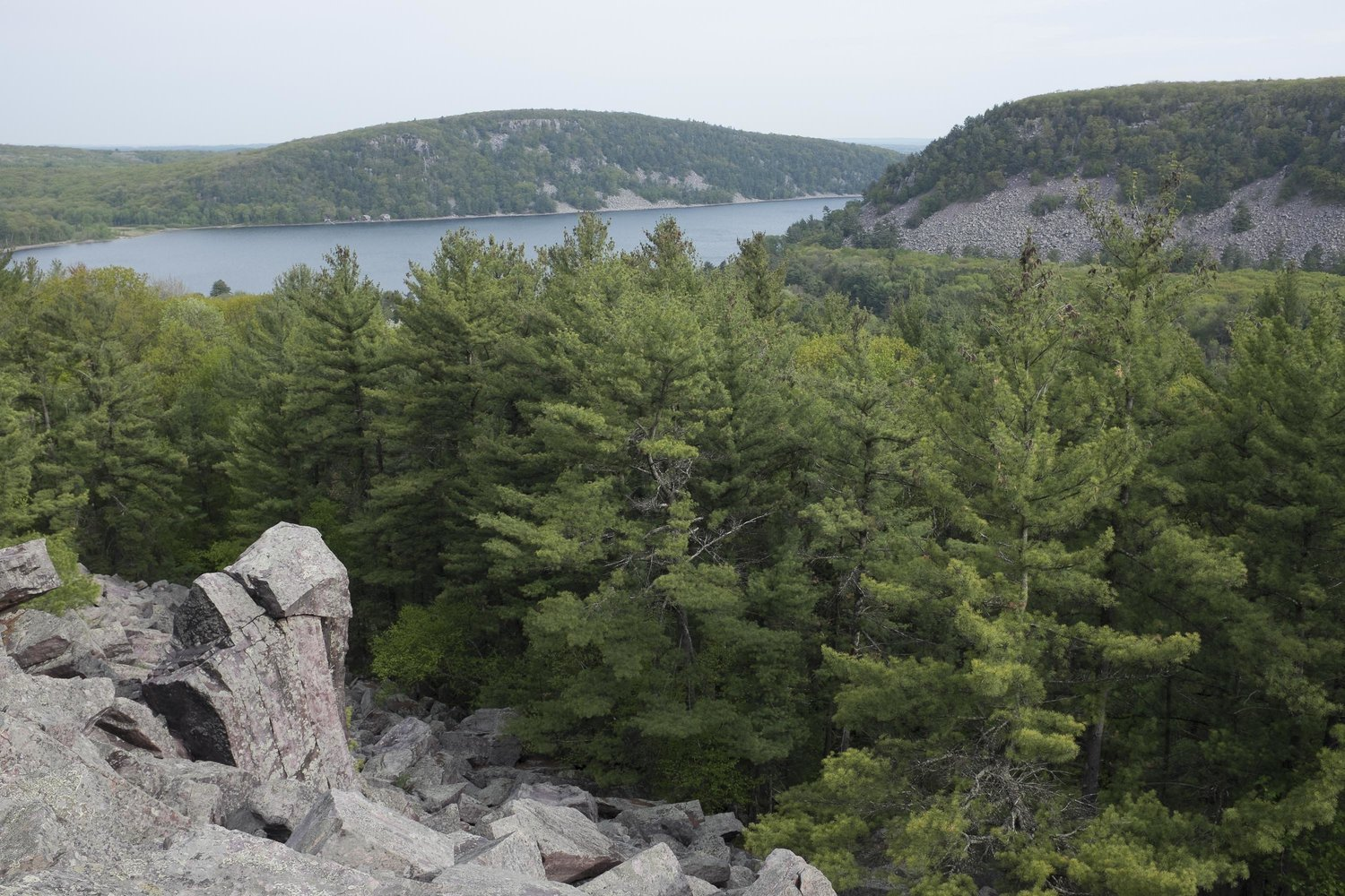 Devils Lake In Off Season In Black And >> Hiking Map Of Devils Lake State Park Baraboo Wisconsin