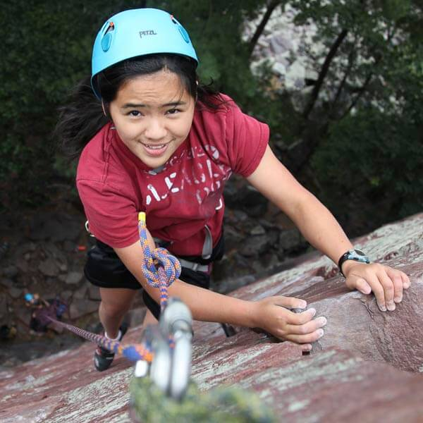 Climbing Upper Diagnonal at Devil's Lake.